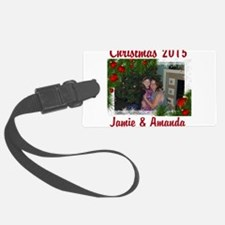 personalize Christmas mem Luggage Tag