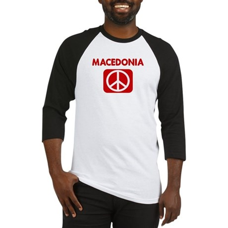 MACEDONIA for peace Baseball Jersey