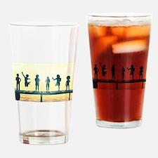 Happy Children Playing Drinking Glass
