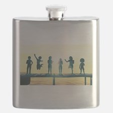 Happy Children Playing Flask