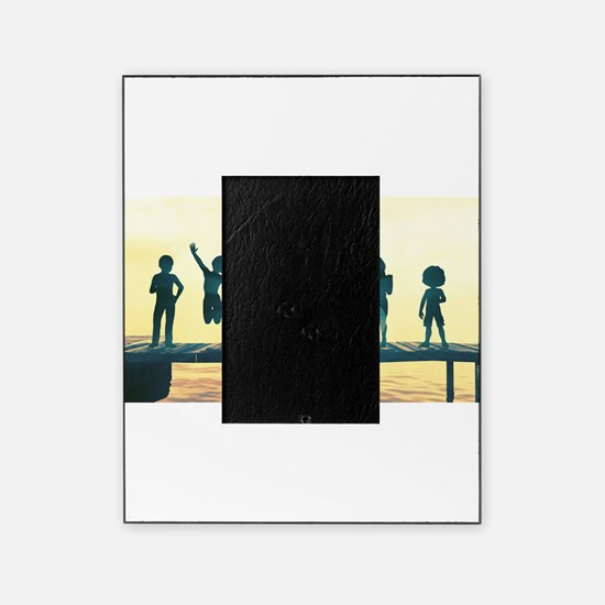 Happy Children Playing Picture Frame