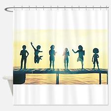 Happy Children Playing Shower Curtain