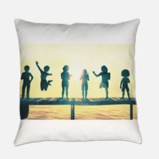 Happy Children Playing Everyday Pillow