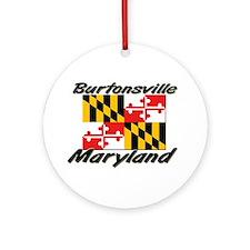 Burtonsville Maryland Ornament (Round)