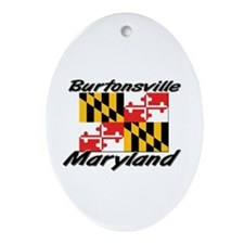 Burtonsville Maryland Oval Ornament