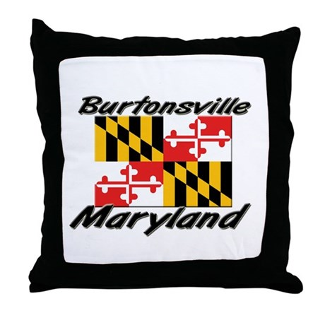 Burtonsville Maryland Throw Pillow