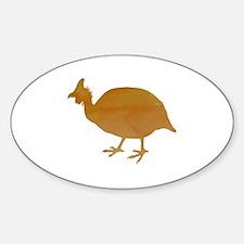 Cute Chicken silhouette Sticker (Oval)