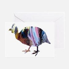 Unique Chicken silhouette Greeting Card