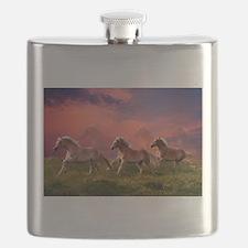 HAFLINGER HORSES Flask
