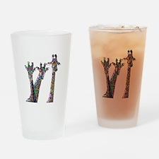Giraffes in New Pajamas Drinking Glass