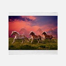 HAFLINGER HORSES Throw Blanket