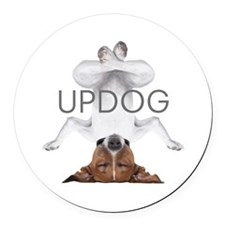 Cute Dogs Round Car Magnet