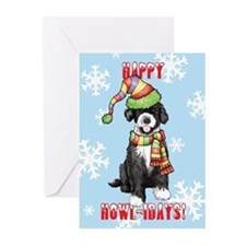 Unique Dog breed christmas Greeting Cards (Pk of 20)
