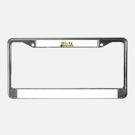 Happy Children Playing License Plate Frame