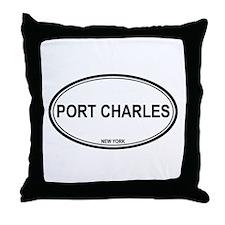 Port Charles, NY Throw Pillow