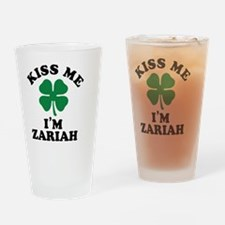 Cute Zariah Drinking Glass