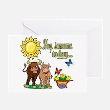 Hug Someone Cows Greeting Card
