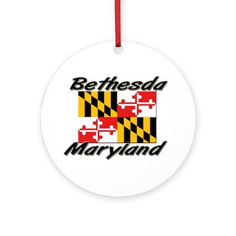 Bethesda Maryland Ornament (Round)