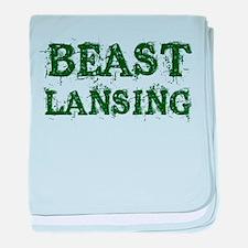 Beast Lansing baby blanket
