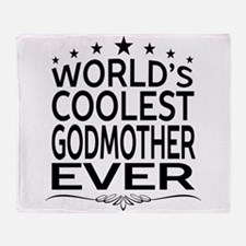 WORLD'S COOLEST GODMOTHER EVER Throw Blanket
