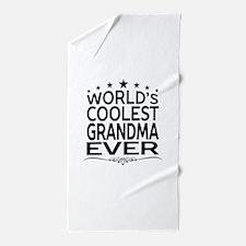 WORLD'S COOLEST GRANDMA EVER Beach Towel