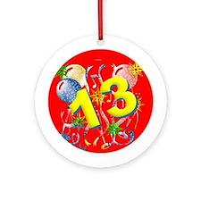 13th Birthday Ornament (Round)