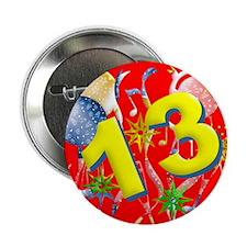 13th Birthday Button