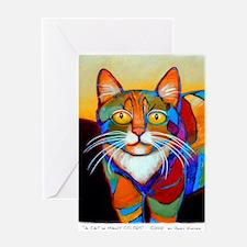 Cute Cat art Greeting Card