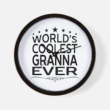 WORLD'S COOLEST GRANNA EVER Wall Clock