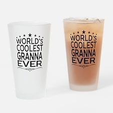 WORLD'S COOLEST GRANNA EVER Drinking Glass