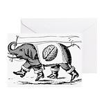 Elephant & Brain Greeting Cards