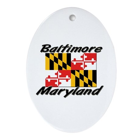 Baltimore Maryland Oval Ornament