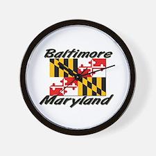 Baltimore Maryland Wall Clock