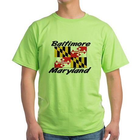 Baltimore Maryland Green T-Shirt