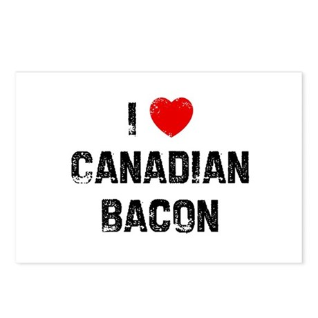 I * Canadian Bacon Postcards (Package of 8)