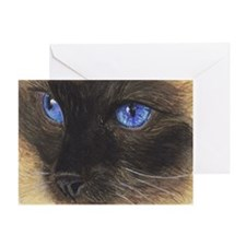 Siamese Eyes.png Greeting Cards