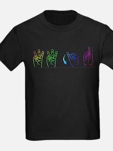 Rainbow ASL WWJD T