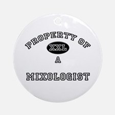Property of a Mixologist Ornament (Round)