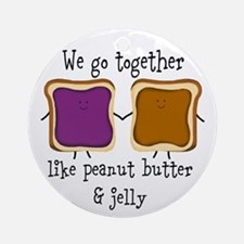 Peanut Butter and Jelly Round Ornament