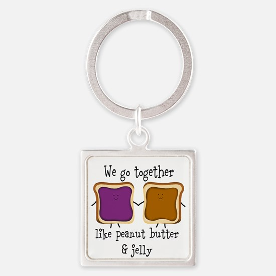 Peanut Butter and Jelly Keychains