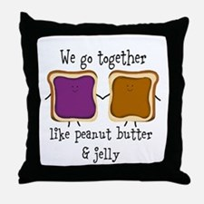 Peanut Butter and Jelly Throw Pillow