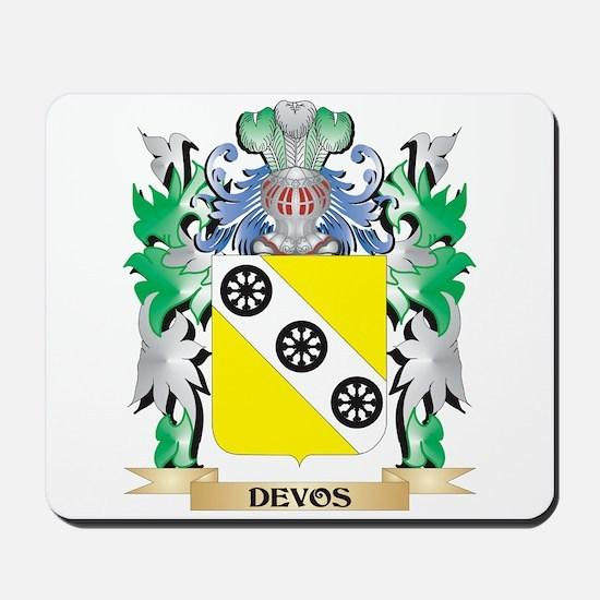 Devos Coat of Arms (Family Crest) Mousepad