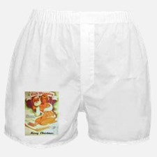 Unwrapping A Pin Up On Christmas Boxer Shorts
