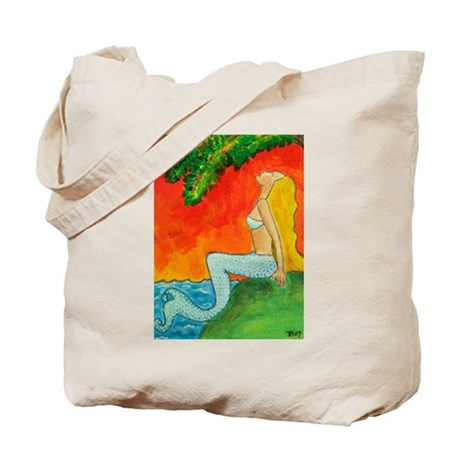 Mermaid Sunrise Tote Bag