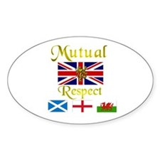 Mutual Respect. Oval Decal