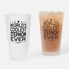 WORLD'S COOLEST STEPMOM EVER Drinking Glass