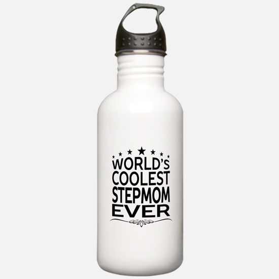 WORLD'S COOLEST STEPMOM EVER Sports Water Bottle