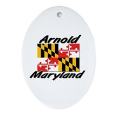 Arnold Maryland Oval Ornament