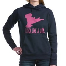 Cool Ninja girl Women's Hooded Sweatshirt