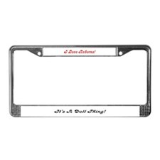 """I Love Reborns!"" License Plate Frame"